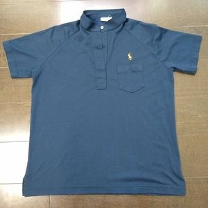Evan-Picone   Polo Shirt Short Sleeve Navy Blue